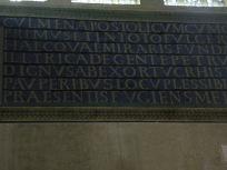 Inscription au fond en haut qui donne la date de la construction