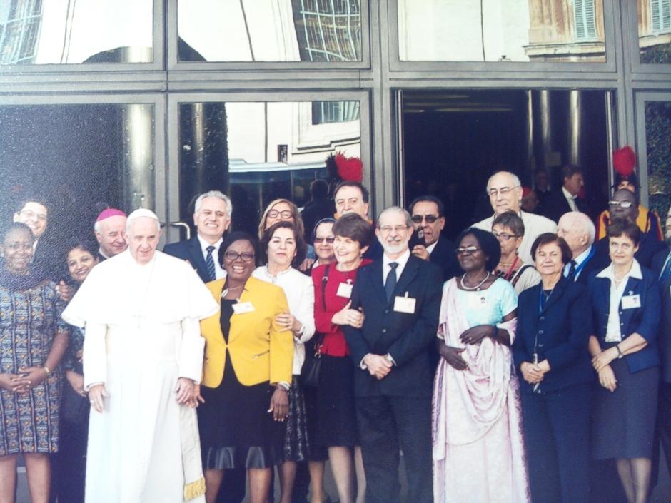 photo groupe avec le pape